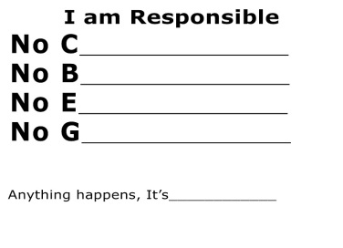 I am Responsible 1st part